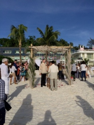 Witnessed a boracay beach wedding